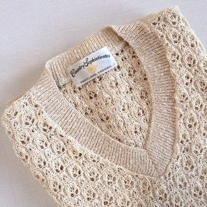 VINTAGE soft knit muscle tee/sweater